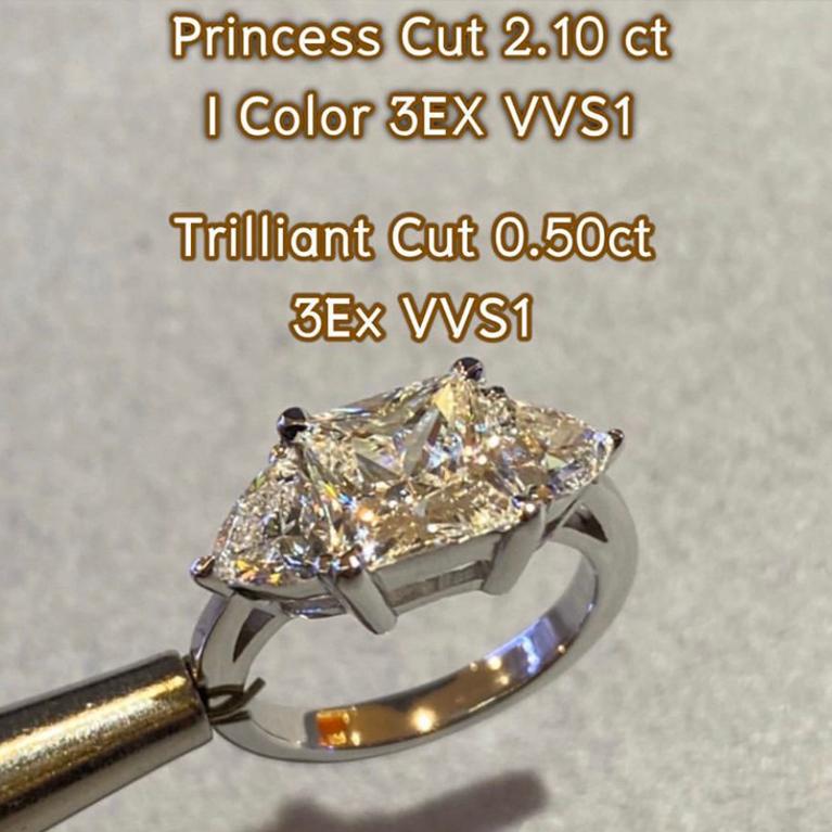 15--Princess-Cut--ขนาด-2.10กะรัต-น้ำ95(I-Color)