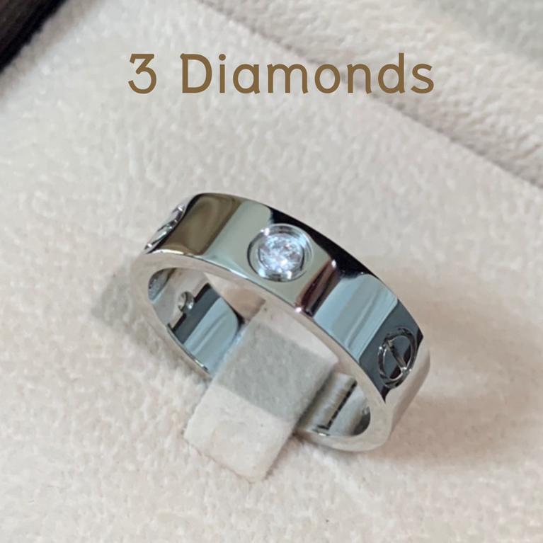 love ring 3 diamonds
