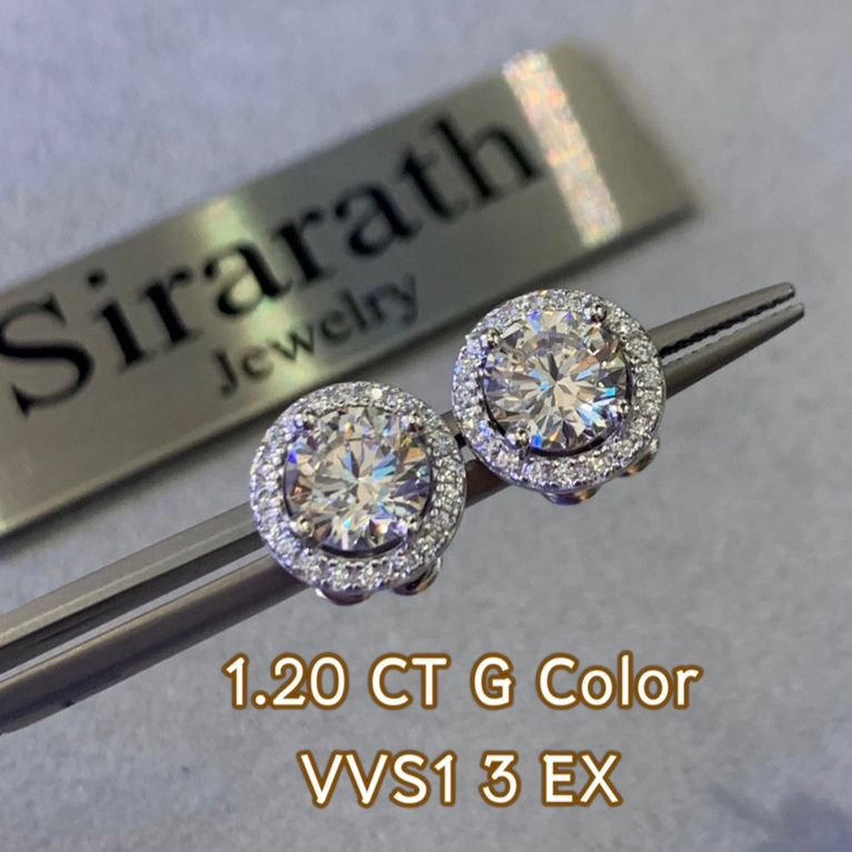 8-ต่างหูเพชร-1.2กะรัต-น้ำ-97-(G-Color)-3EX-VVS1